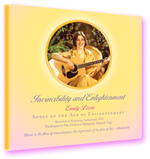 Enlightenment and Invincibility CD cover—photo of the musician with her guitar