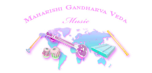 Maharishi Gandharva Veda Music—graphic showing some of the musical instruments of Gandharva Veda